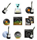 Musical icon set Stock Image