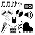 Musical icons over white background vector illustration Stock Image