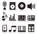 Musical icons7 Stock Photography