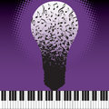 Musical ideas an illustration of piano keys and light bulb with notes idea and innovation illustration Stock Image