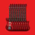 Musical instrument - Electric guitars on a red background Royalty Free Stock Photo