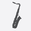 Musical Instrument Saxophone that Plays Jazz Music Direction. Ve