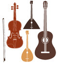 Musical instrument set isolated objects on white background vector illustration eps Stock Image