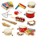 Musical instruments collection Stock Photos
