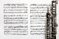 Musical instruments music sheet notes oboe Royalty Free Stock Photo