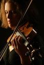 Musical instruments Playing violin closeup Royalty Free Stock Photo
