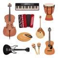Musical Instruments Set, Cello...
