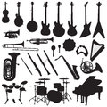 Musical instruments vector a collection of created in adobe illustrator Royalty Free Stock Photography
