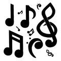 Musical Note Collection Royalty Free Stock Photo