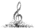 Musical note staff eps illustration without transparency Royalty Free Stock Photography