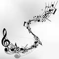 Musical note staff eps vector illustration without transparency Royalty Free Stock Photos