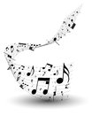 Musical note staff eps vector illustration without transparency Royalty Free Stock Image