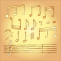 Musical note vector in children style
