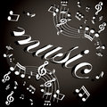Musical notes background vector Royalty Free Stock Image