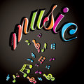 Musical notes background vector Royalty Free Stock Photography