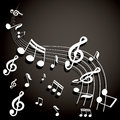 Musical notes background vector Royalty Free Stock Images