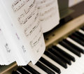 Musical notes on composer or piano Stock Photography