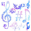 Musical Notes Elements Stock Photos