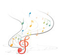Musical notes illustration of the on a white background Stock Photos