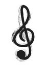Musical notes, treble clef
