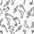 Musical seamless pattern.