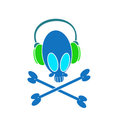 Musical skull Royalty Free Stock Image