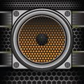 Musical speaker colorful illustration with for your design Stock Photo