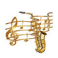 Musical stave volume and saxophone Royalty Free Stock Photo