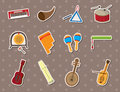Musical stickers Stock Image