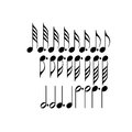 Musical symbols black