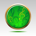 Musical symbols icon  Royalty Free Stock Photos