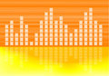 Musical volume graph abstract Royalty Free Stock Photography