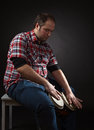 Musician with bongo Royalty Free Stock Photo