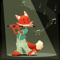 Musician Fox. Stock Photo