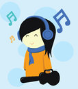 Musician Girl Vector Royalty Free Stock Photo