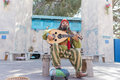 Musician performing during the Renaissance Pleasure Faire. Royalty Free Stock Photo
