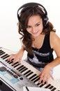 Musician at piano Royalty Free Stock Photo
