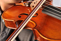 Musician playing violin close up Stock Photo