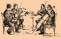 Musician quartet Royalty Free Stock Photo