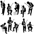 Musician set Stock Photo
