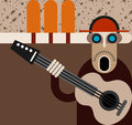 Musician - vector illustration Stock Photography