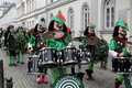 Musicians in carnival street parade wiesbaden germany Stock Photos