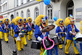 Musicians in carnival street parade wiesbaden germany Royalty Free Stock Photography