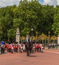 Musicians at the Changing of the Guard Performance at Buckingham Royalty Free Stock Photo