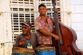 Musicians in Trinidad, cuba. Royalty Free Stock Photos