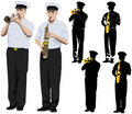 Musiciens militaires Photos stock