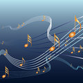 Musicnotes Royalty Free Stock Photos