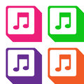 Musics icons set great for any use. Vector EPS10. Royalty Free Stock Photo