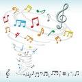 Musik bemärker tromben Arkivfoton