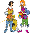 Musketeer and the viscount Royalty Free Stock Photo